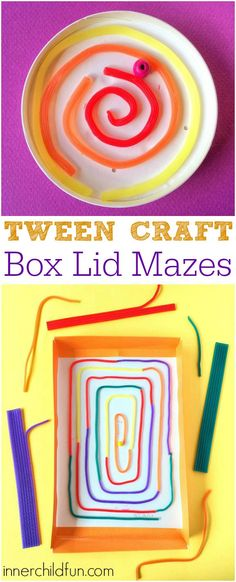 Tween Craft - Box Lid Mazes - my 11 year old will love this!!!