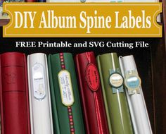 3 Easy Ways to Create Your Own Album Spine Labels    Why You Should Consider Making Your Own Labels  In the past I used a company to actually print on the spines of my albums so I could easily find an
