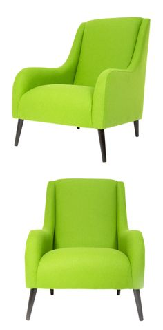 For the colour lovers- Add a bold statement piece to your home with a bright lime green armchair.