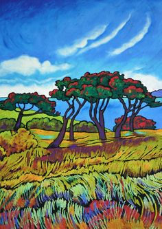 Wendy Leach Artist - New Zealand Prints Art And Illustration, New Zealand Art, Nz Art, Modern Impressionism, Amazing Street Art, Plant Art, Old Paintings, Design Art, Tile Design