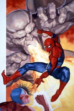 SPIDER-MAN vs Dragon Man & Eel by Glen Orbik