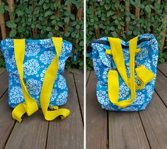 Be ready for everything this summer with this convertible purse / backpack free sewing pattern. Its an over the shoulder bag, it's a backpack! Lots of pockets and free printable pattern.
