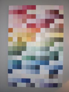 Paint chip Pixel art from old Color swatch book (AKA not stolen paint chips... those do-good-ers) from Our First Nest