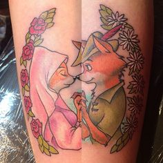Robin Hood tattoo by @nikkirex! #disney #disneyland #disneyworld #disneyinkfiends #waltdisney #waltdisneytattoo #robinhood #robinhoodtattoo