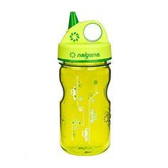 Nalgene Grip N Gulp Water Bottle Spring Green Cars, 12 Ounce