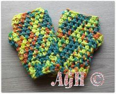 FREE crochet pattern for Kids' Chunky Fingerless Gloves by AG Handmades.
