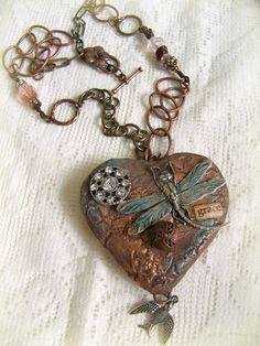 Handmade Mixed Media Gypsy Necklace