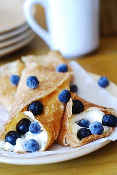 Crepes with ricotta cheese and blueberries:3/3*, REM fave!, used honey in place of agave, cut recipe in half (used girl inspired crepe recipe). Topped w/blueberry sauce. Yield: 8 crepes Made 9/2/15 note:prefer thicker crepe