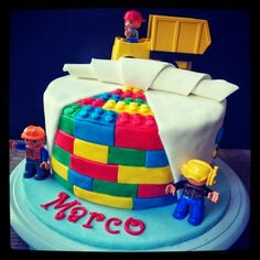 Lego Duplo Bricks Birthday Cake #CakeMagic