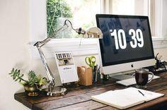 apple, coffee, desk, plant, school, study
