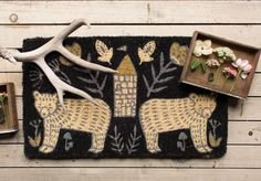 The Danica Studio Wild Tale Doormat adds a touch of practical décor to your apartment, condo or home entry. Textiles, Doormat, Home Accessories, Reusable Tote Bags, Cozy, Shoulder Bag, Studio, Prints, Stuff To Buy