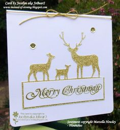 CAS303 More Sparkly Deer! by JoBear2 - Cards and Paper Crafts at Splitcoaststampers