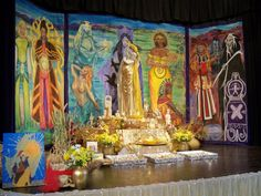 Goddess Conference hall...gorgeous! Pagan Altar, Wiccan, Mists Of Avalon, Gypsy Witch, Home Altar, Celtic Mythology, Divine Feminine, Gods And Goddesses, Magick