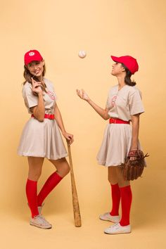 A league of their own costume: http://www.stylemepretty.com/living/2015/10/15/totally-doable-halloween-costumes-for-couples/
