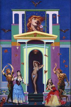 La morte en beauté 1963, huile sur toile 61.5 x 45 cm
