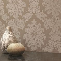Arthouse Messina Damask Wallpaper - Mocha - http://godecorating.co.uk/arthouse-messina-damask-wallpaper-mocha/