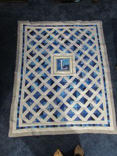 Wedding signature quilt, without satin binding