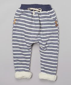 Another great find on #zulily! Charcoal Stripe Fleece Jogger Pants - Infant, Toddler & Kids by Leighton Alexander #zulilyfinds