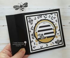 I am totally in love with the gorgeous Golden Honey Specialty Designer Series Paper from Sale-a-bration and the Honey Bee bundle from our Mini Catalogue. What's not to LOVE!