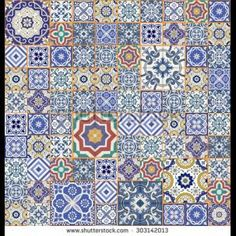 2405-vector-mega-gorgeous-seamless-patchwork-pattern-from-colorful-moroccan-tiles-ornaments-can-be-used-for-303142013.jpg (303×303)