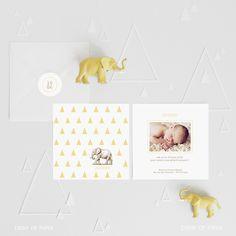 Faire-part de naissance garçon petit éléphant JOSEPH