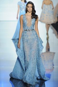 It was all about fluid movements in pastel hues for Zuhair Murad's Spring Couture show.