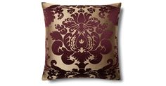 A classic damask pattern in bold amethyst against a ribbed neutral ground gives this pillow a lavish elegance. The feather-and-down fill ensures luxurious loftiness. Made in the USA of imported...