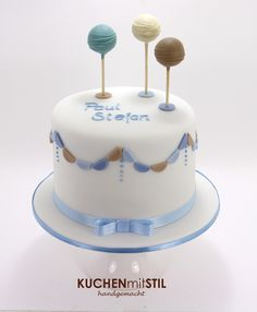 www.KUCHENmitSTIL.at Tauftorte Christening Cake                                                                                                                                                      More