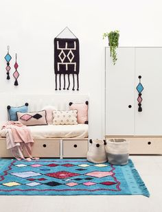 Lorena Canals Vloerkleed Draa 185 x 120 cm - My Little Carpet Lorena Canals Rugs, Black Basket, Washable Area Rugs, Knitted Cushions, Cozy Room, Custom Rugs, Design Consultant, Kids Bedroom, Kids Rugs