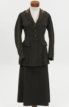 A World War I Army Nurse's outdoor uniform. Designed by Abercrombie & Fitch.