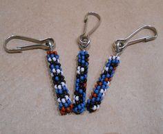 Peyote Stitch Zipper Pull 3 set (Cloud Blue) Design Choices