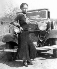 Bonnie of the infamous Bonnie and Clyde crime sprees. 1933.