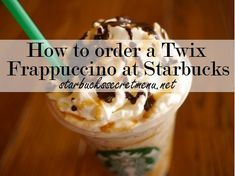 Try the Twix Frappuccino, a Starbucks Secret Menu Favourite! Recipe here: starbuckssecretme… Starbucks Secret Menu Items, Starbucks Menu, Starbucks Frappuccino, Starbucks Recipes, Starbucks Coffee, Coffee Recipes, Caramel Frappuccino, Starbucks Refreshers, Fondue Recipes