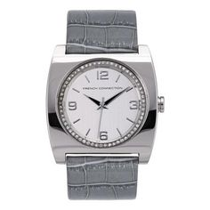 French Connection Ladies Watch, White/Grey
