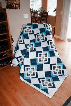 Quilt Square Patterns, Quilt Patterns Free, Pattern Blocks, Square Quilt, Quilts For Men Patterns, Crochet Quilt Pattern, Vintage Quilts Patterns, Pattern Ideas, Canvas Patterns