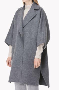 Wool cashmere cape type wide collar coat Fashion 2018, Modest Fashion, Boho Fashion, Unique Outfits, Chic Outfits, Fashion Outfits, Cashmere Cape, Sewing Coat, Mode Hijab