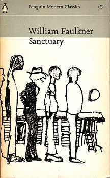 """""""Sanctuary"""" by William Faulkner. Cover illustration by Andre Francois, 1965 (Penguin Modern Classics)"""