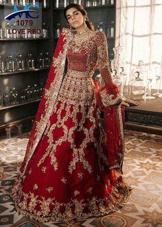 Heavy embroidery work red velvet lehenga choli Indian Pakistan wedding bridal lehenga Ghagra choli c Indian Wedding Lehenga, Pakistani Wedding Outfits, Indian Bridal Outfits, Pakistani Wedding Dresses, Pakistani Bridal Lehenga, Bridal Lehnga Red, Indian Wedding Bride, Walima Dress, Indian Bridal Wear