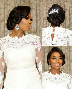 wedding makeup african american 75 Stunning African American Wedding Hairstyle Ideas for Memorable Wedding - VIs-Wed - Stunning african american wedding hairstyles ideas 36 - Black Brides Hairstyles, Natural Wedding Hairstyles, Afro Hairstyles, African Wedding Hairstyles, Hairstyles 2016, Wedding Hair And Makeup, Wedding Hair Accessories, Black Hair Wedding Styles, Black Bridal Makeup
