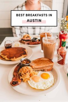 Best Breakfasts In Austin by A Taste Of Koko. Use this ultimate guide for the best spots to eat breakfast in Austin. There so many great spots worth waking up for! Good Breakfast Places, Breakfast Restaurants, Eat Breakfast, Visit Austin, Austin Food, Good Foods To Eat, Best Places To Eat, Food Inspiration