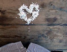 heart-shaped hole punchies! talk about trash-turned-treasure.