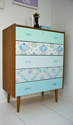 I have the perfect dresser to do this with!