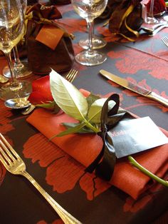 table setting for Autumn