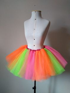 deedabed65 Tutu infantil em cores neon, pink , laranja e verde limão Nosso produto  agora ainda