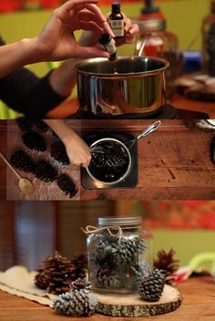 How to Make Pinecone Fire Starters --> http://blog.hgtv.com/design/2013/01/15/weekday-crafternoon-how-to-make-pinecone-fire-starters/