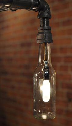 Genesis Industrial Steampunk Chandelier Beer Bottle di TMLStudios