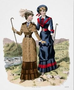 hiking fashion plate