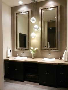 beautiful bathroom lighting. Pretty Cool Idea For Between The Mirrors, But How Much Pricier Would That Be Beautiful Bathroom Lighting Q