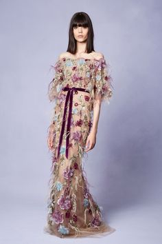 Dress your bridesmaids in this fun, floral gown from our RE18 collection. Available now on FarFetch.com!