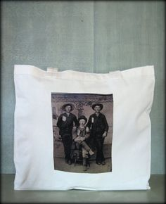 Tintype Tote  Three Cowboys Or Ranchers by ScarlettSlipper on Etsy